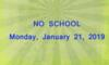No School -MLK Holiday