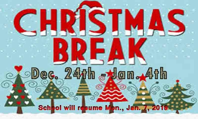 Christmas Break School News Ponce De Leon Elementary School