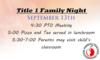 Title 1 Family Night/PTO Meeting
